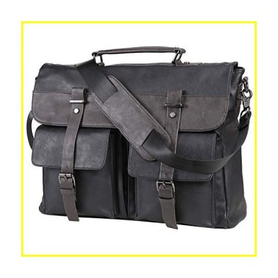 新品   Leather Messenger Bag for Men, 15.6 Inch Vintage Laptop Bag Briefcase Satchel   並行輸入品