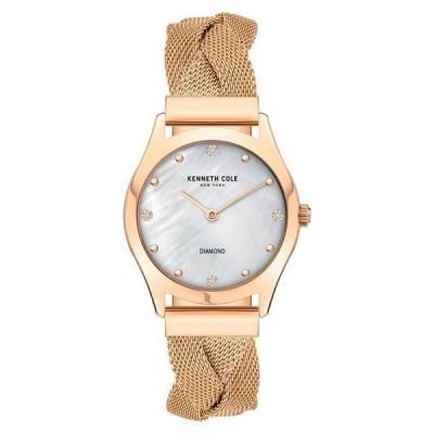 ケネスコール 腕時計 アクセサリー メンズ Diamond Accent Braided Mesh Bracelet Watch, 34mm -
