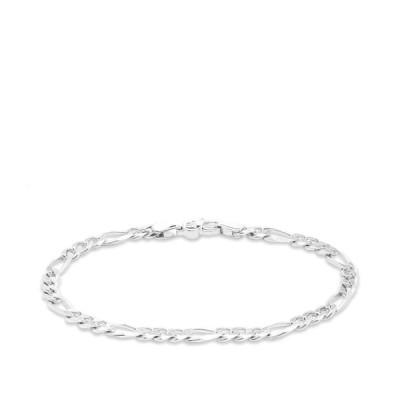 """トムウッド Tom Wood メンズ ブレスレット ジュエリー・アクセサリー figaro thick bracelet 7.7"""" Sterling Silver"""