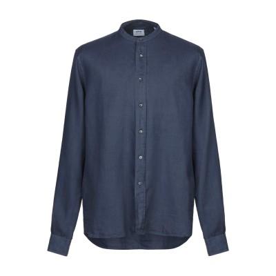 アスペジ ASPESI シャツ ブルーグレー 43 麻 100% シャツ