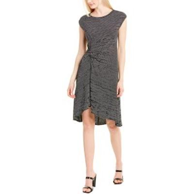 マックスタジオ レディース ワンピース トップス Max Studio Textured Midi Dress black