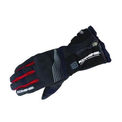 バイク コミネ EK-201 プロテクトEグローブ12V BLK RED #3XL KOMINE 08-201 取寄品 セール