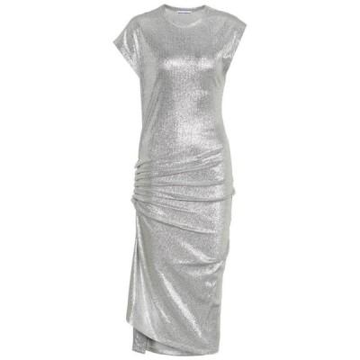 パコラバンヌ Paco Rabanne レディース ワンピース ワンピース・ドレス Metallic jersey dress Silver