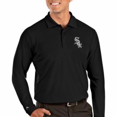 アンティグア Antigua メンズ ポロシャツ トップス Chicago White Sox Tribute Long Sleeve Performance Black Polo