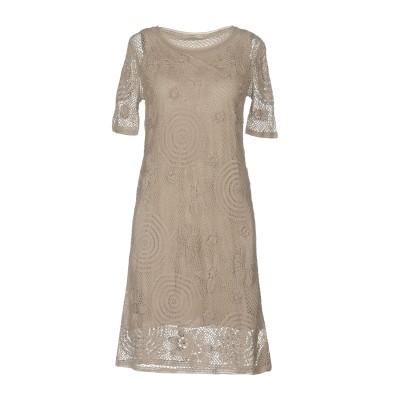 ALPHA MASSIMO REBECCHI ミニワンピース&ドレス ライトグレー 46 コットン 100% ミニワンピース&ドレス