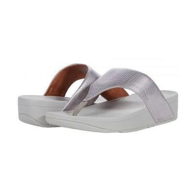 FitFlop フィットフロップ レディース 女性用 シューズ 靴 ヒール Olive Textured Glitz - Silver