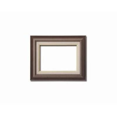 ds-1988955 【油額】油絵額・キャンバス額・木製油絵額・茶色油絵額 ■F4号(333×242mm)「ブラウン」 (ds1988955)