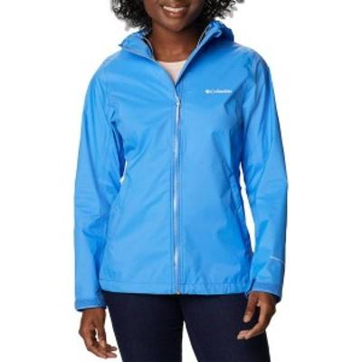 コロンビア レディース ジャケット・ブルゾン アウター Columbia Women's EvaPOURation Rain Jacket Harbor Blue