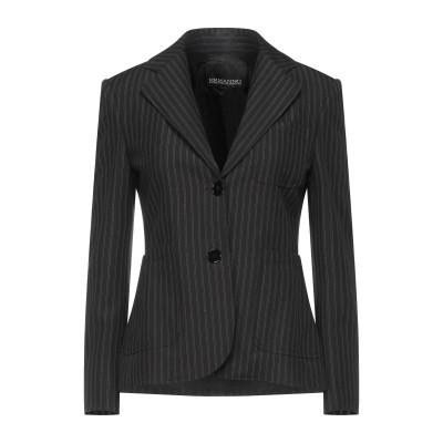 ERMANNO DI ERMANNO SCERVINO テーラードジャケット ブラック 40 レーヨン 67% / ポリウレタン 29% / ポリウ