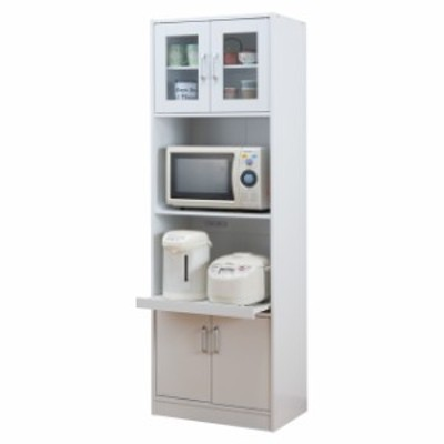 レンジ台 レンジラック 大型レンジ 食器棚 一人暮らし スリム キッチンラック 木製 電子レンジ台 スライド棚 炊飯器ラック レンジラック