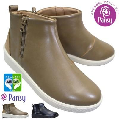 パンジー PANSY ブーツ PS1490 レディース オーク ブラック 22.5cm〜24.5cm