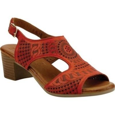 スプリングステップ Spring Step レディース サンダル・ミュール シューズ・靴 Chains Slingback Red Leather