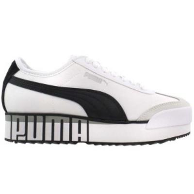 プーマ レディース スニーカー シューズ Roma Amor Logo Platform Sneakers Puma White / Puma Black