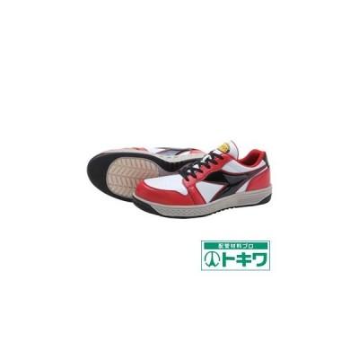 ディアドラ 安全作業靴 グレーブ レッド/ホワイト/ブラック 23.0cm (GR312-230) ドンケル(株)