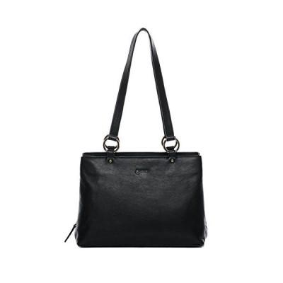 BACCINI top-Handle Tote Bag NOELA Large Shoulder Bag Real Leather Handbag Leather Bag Women´s Bag Black 並行輸入品