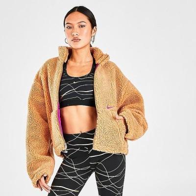 ナイキ レディース シャーパジャケット Nike Sherpa Fleece Full-Zip Jacket アウター Flax/Cactus Flower