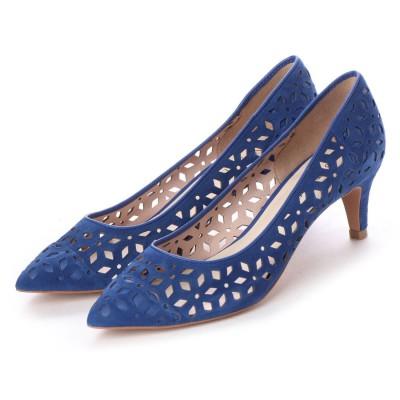 アンタイトル シューズ UNTITLED shoes レーザーカットパンプス (ブルースエード)