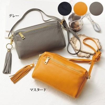 ポシェット バッグ レディース / やわらか牛革ポシェット / 40代 50代 60代 70代 ミセス シニア ファッション 婦人 かばん 鞄