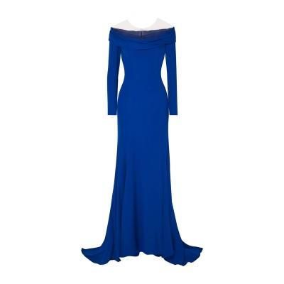 REEM ACRA ロングワンピース&ドレス アジュールブルー 2 シルク 100% ロングワンピース&ドレス