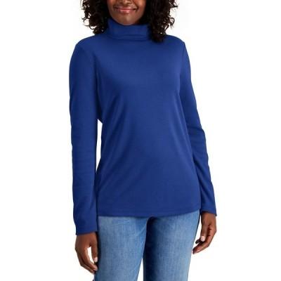 ケレンスコット カットソー トップス レディース Cotton Turtleneck Sweater Ultra Blue