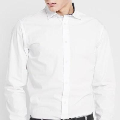 メンズ ファッション SLHSLIMMARK WASHED - Formal shirt - bright white
