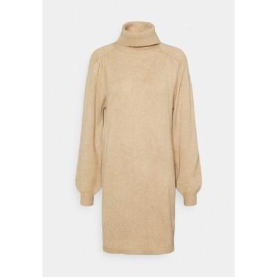 ジェイディーワイ ワンピース レディース トップス JDYMOE ROLLNECK DRESS - Jumper dress - beige