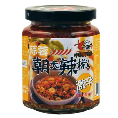 老騾子 にんにく入り食べるラー油 蒜蓉朝天辣椒 240g 激辛 中華調味料 台湾 お土産