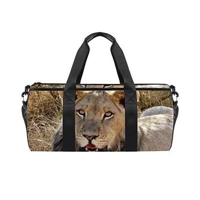 Sport Duffel Bag Animal Lion 02 Gym Bag Kids Swimming Bag Weekend Bag
