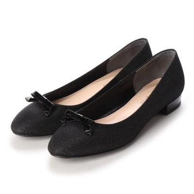 ジルスチュアート シュー JILLSTUART shoe リボンモチーフラウンドトゥパンプス (ブラック)