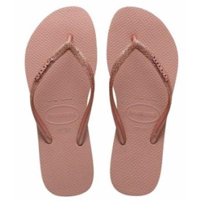 ハワイアナス レディース サンダル シューズ Women's Slim Glitter Flip Flops Crocus Rose
