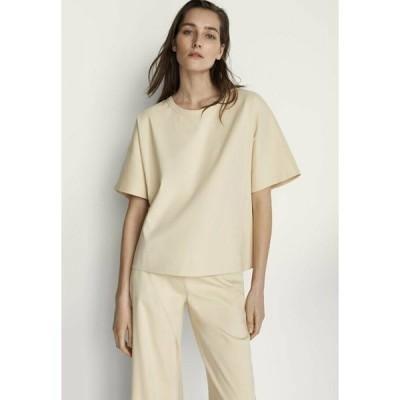 マッシモ ドゥッティ Tシャツ レディース トップス Basic T-shirt - beige
