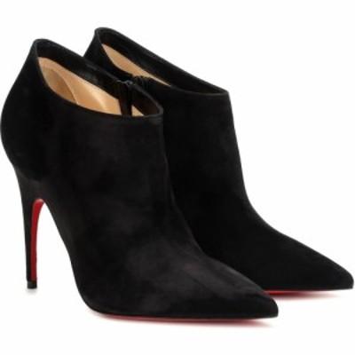 クリスチャン ルブタン Christian Louboutin レディース ブーツ ショートブーツ シューズ・靴 Gorgona 100 suede ankle boots Black