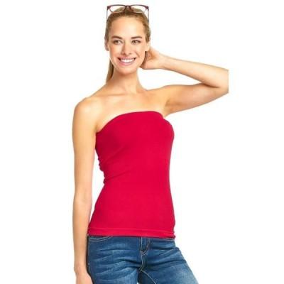 レディース 衣類 トップス Sofra women's Seamless Plain Colored Tube Top ブラウス&シャツ
