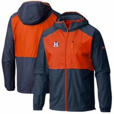 Columbia コロンビア スポーツ用品  Columbia Houston Astros Navy Flash Forward Full-Zip Windbreaker Jacket