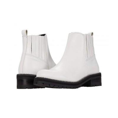 Steve Madden スティーブマデン レディース 女性用 シューズ 靴 ブーツ アンクル ショートブーツ Gale Bootie - White Leather