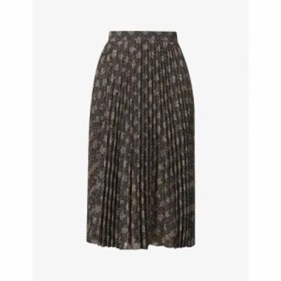 セッスン SESSUN レディース ひざ丈スカート スカート Nu Coleen pleated high-waisted woven midi skirt Woodkyoto
