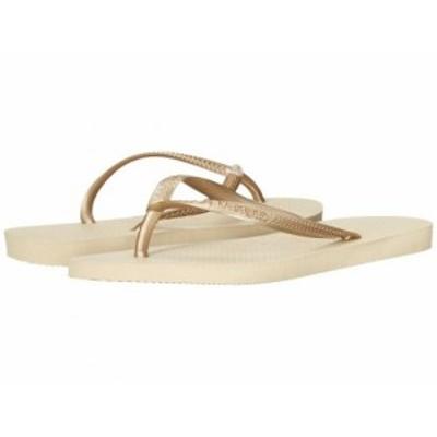 Havaianas ハワイアナス レディース 女性用 シューズ 靴 サンダル Slim Flip Flops Sand Grey/Light Golden【送料無料】
