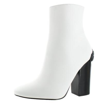ブーツ ケンダルアンドカイリー Kendall Kylie Haedyn Women's Leather Block Heel Bootie Boot