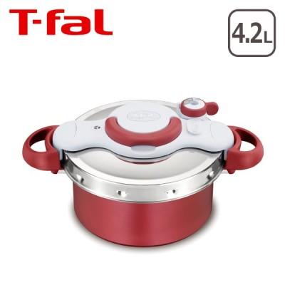ティファール 圧力鍋と鍋が一つに!クリプソ ミニット デュオ ルージュ 4.2L P4704231 T-fal