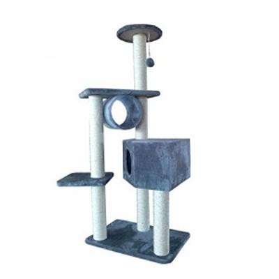 キャットタワー 猫タワー 猫 ハンモック 自然サイザルツリー猫のおもちゃペ(中古品)
