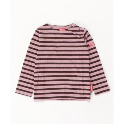 MAZEMAZE / ボーダーロングTシャツ KIDS トップス > Tシャツ/カットソー