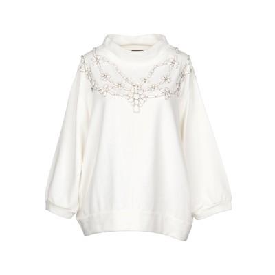 ツインセット シモーナ バルビエリ TWINSET スウェットシャツ アイボリー L コットン 100% スウェットシャツ