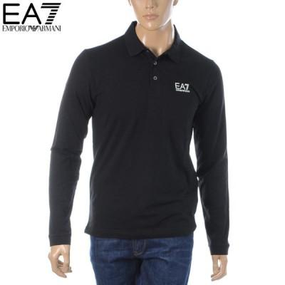 エンポリオアルマーニ EA7 EMPORIO ARMANI ポロシャツ 長袖 メンズ 8NPF05 PJM5Z ブラック 2021春夏セール