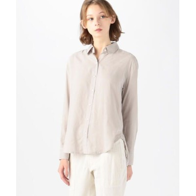 TOMORROWLAND/トゥモローランド マイクロスエード ロングスリーブシャツ WMMS3523 81 シルバー 0(S)