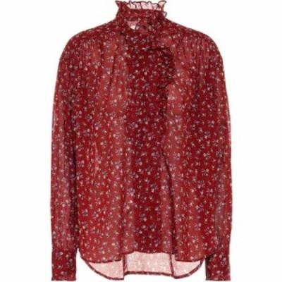 イザベル マラン Isabel Marant. Etoile レディース ブラウス・シャツ トップス pamias floral cotton voile blouse Grenat