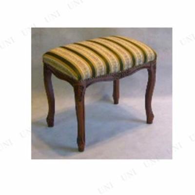 【取寄品】 ストライプスツールシリーズ 茶脚 Mサイズ グリーン インテリア雑貨 リビング家具 イス チェアー 椅子 いす 腰掛 おしゃれ ア