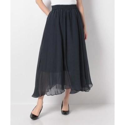 LANVIN en Bleu / ランバン オン ブルー オーガンジーシフォンギャザースカート