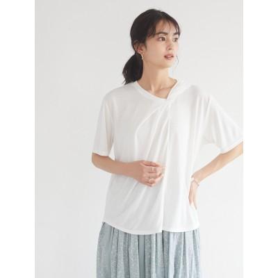 ツイストデザインTシャツ