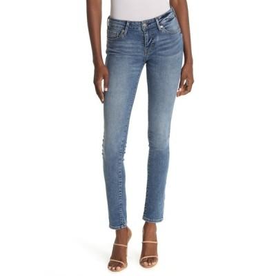 トゥルーレリジョン レディース デニムパンツ ボトムス Stella Mid Rise Skinny Jeans MEDIUM LIG