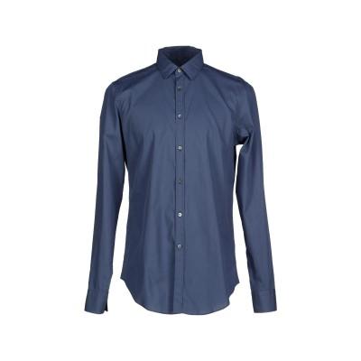 マウロ グリフォーニ MAURO GRIFONI シャツ ブルーグレー 40 コットン 100% シャツ